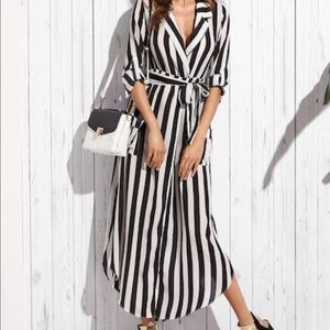Black & white maxi dress